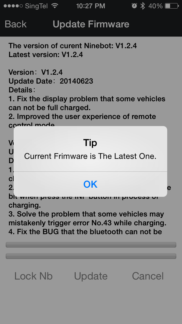 How to Upgrade Firmware - Ninebot